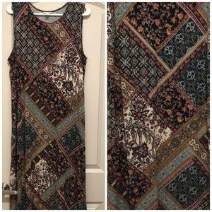 J.Jill Paisley Soft maxi dress